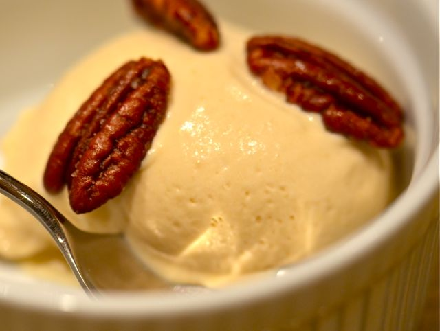 Maple Ice Cream With Salty, Buttered Pecans « Putney Farm