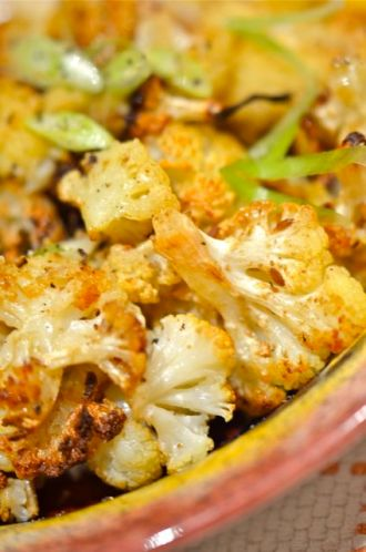 Spiced, Roasted Cauliflower.