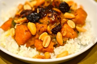 Squash, Coconut and Spinach Curry