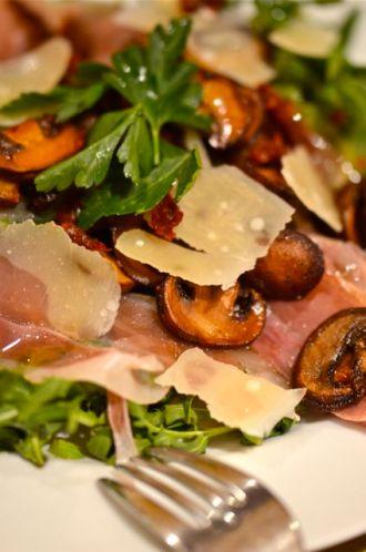 Warm Mushroom and Arugula Salad.