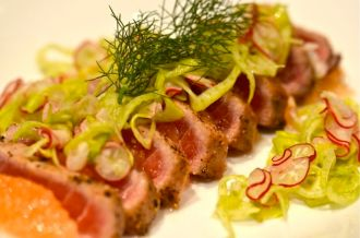 Seared Ahi with Grapefruit and Fennel.