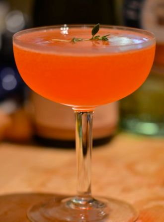 The Strawberry Witch cocktail.