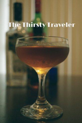 Thirsty Traveler cocktail.